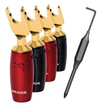 AudioQuest 500 series spade connectoren goud