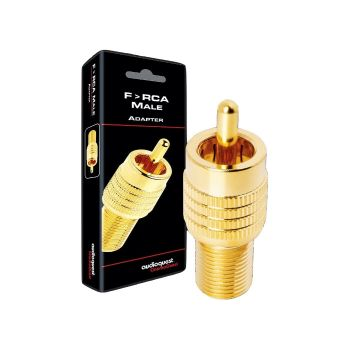 AudioQuest Female F-connector naar male RCA adapter
