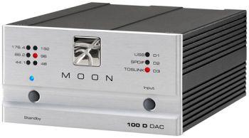 Moon 100 D da-converter zilver