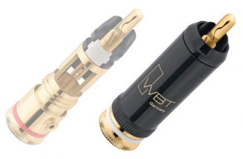 WBT-0102 Cu RCA connector (kleurcode: wit)