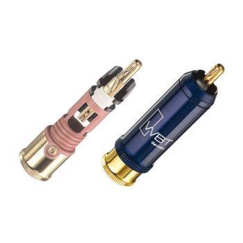 WBT-0110 Cu RCA connector (kleurcode: wit)
