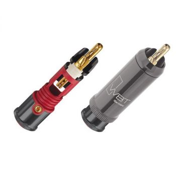 WBT-0114 Cu RCA connector (kleurcode: rood)