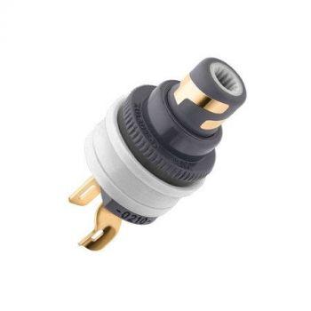 WBT-0210 Cu RCA input connector (kleurcode: wit)
