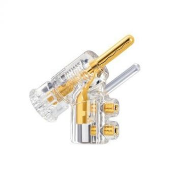 WBT-0610 Cu banaan connector (kleurcode: wit)