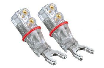 WBT-0661 Ag spade connector 6 mm (kleurcode: rood)