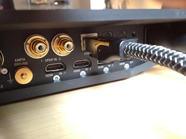 AudioQuest Ethernet Diamond CAT 7 aangesloten op een Linn Klimax DSM