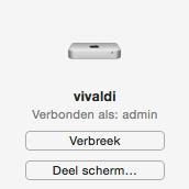 schermdeling Mac mini