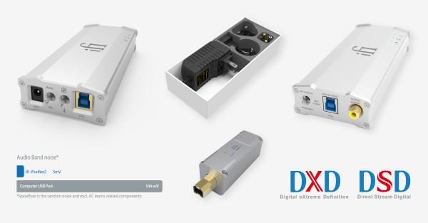 iFi iPower, iPurifier2, Micro iDAC2 en Micro iUSB3.0 Power Supply & Data Optimizer