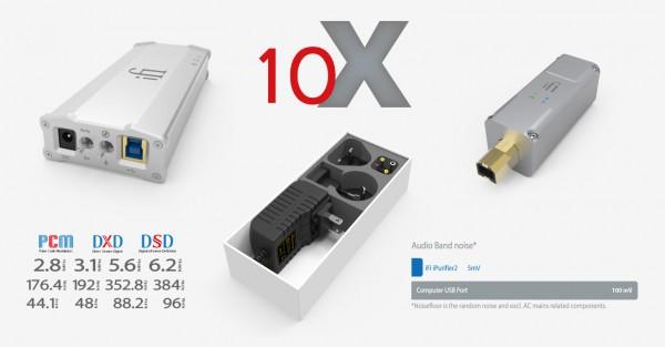 iFi Micro iDAC2 DSD da-converter, iPower voeding en iPurifier2