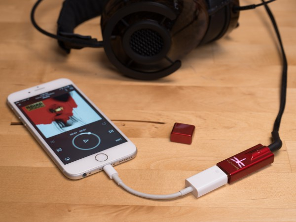 audioquest dragonfly black en red, iphone