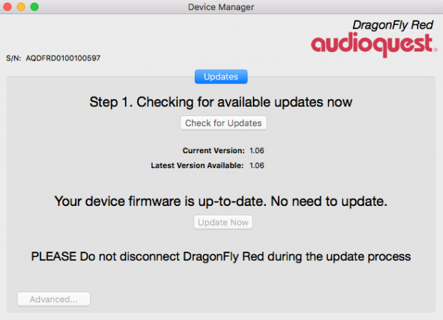 AudioQuest device manager