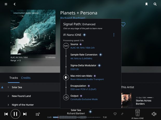 iFi nano iOne Bluetooth DAC + Roon