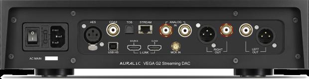 Auralic Vega G2 back - inputs