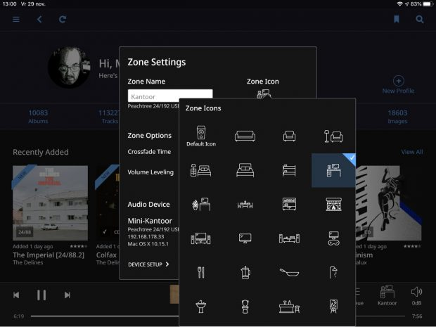 Zone Icon Menu